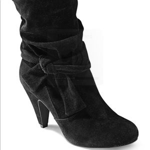 Ankle Boots Suede w side Knot